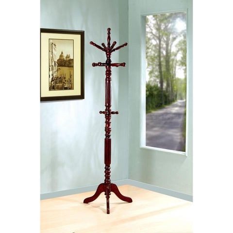 Traditional Design Cappuccino Hall Tree Coat Rack