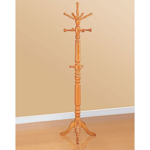 Shop Traditional Design Honey Finished Hall Tree Coat Rack Free Inspiration Hall Tree Coat Rack