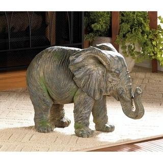 African Timeworn Elephant Sculpture