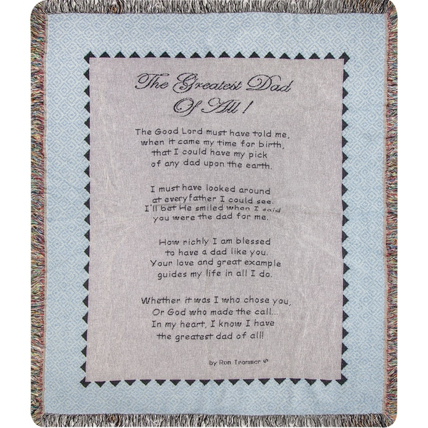 Manual The Greatest Dad On Earth Tapestry Throw