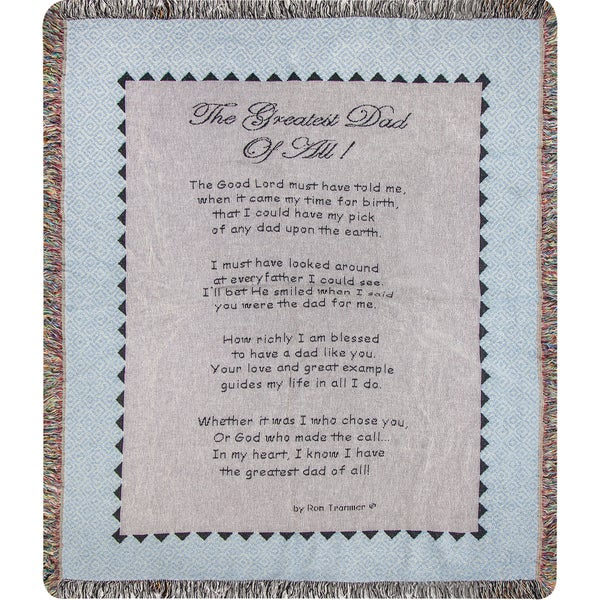 Manual Woodworkers The Greatest Dad On Earth Tapestry Throw