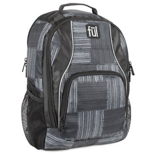 FUL Dax Black/Grey Padded 15-inch Laptop Backpack