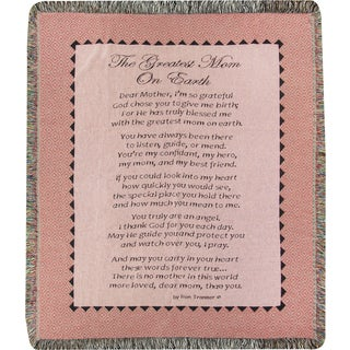 Manual The Greatest Mom on Earth Tapestry Throw