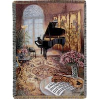 Manual Woodworkers The Music Room Tapestry Throw