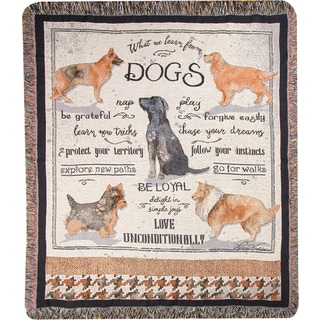 Manual What We Learn From Dogs Tapestry Throw