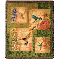 Manual Woodworkers Wings and Blossoms Tapestry Throw