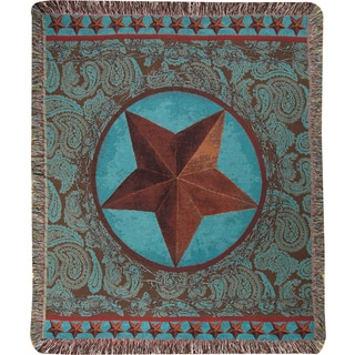 Manual Western Star Red Multicolor Tapestry Throw