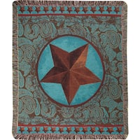 Manual Woodworkers Western Star Red Multicolor Tapestry Throw