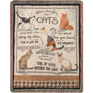Manual What We Learn From Cats Tapestry Throw