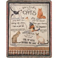 Manual Woodworkers What We Learn From Cats Tapestry Throw