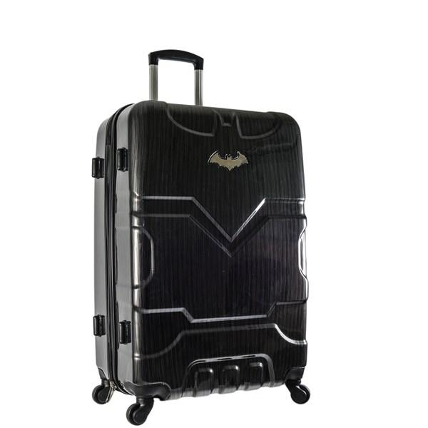 Shop DC Comics Batman Black 29-inch Hardside Spinner Upright ... 2fff3bdcceaa9