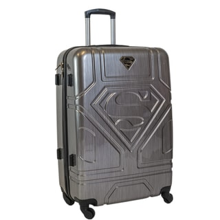 DC Comics Superman Silver 26-inch Hardside Spinner Upright Suitcase