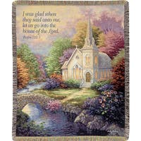 Manual Woodworkers Church In The Country Multicolor Tapestry Throw