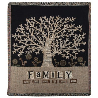 Manual Family Multicolor Tapestry Throw