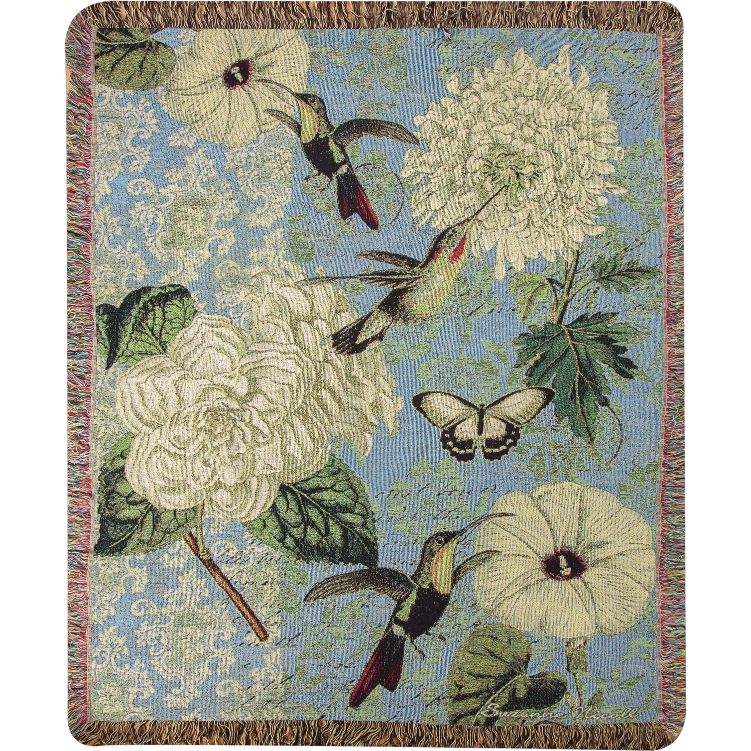 Weavers Manual Hummingbird Flutter Tapestry Throw (50X60i...