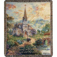 Manual Woodworkers Holy Holy Holy Tapestry Throw