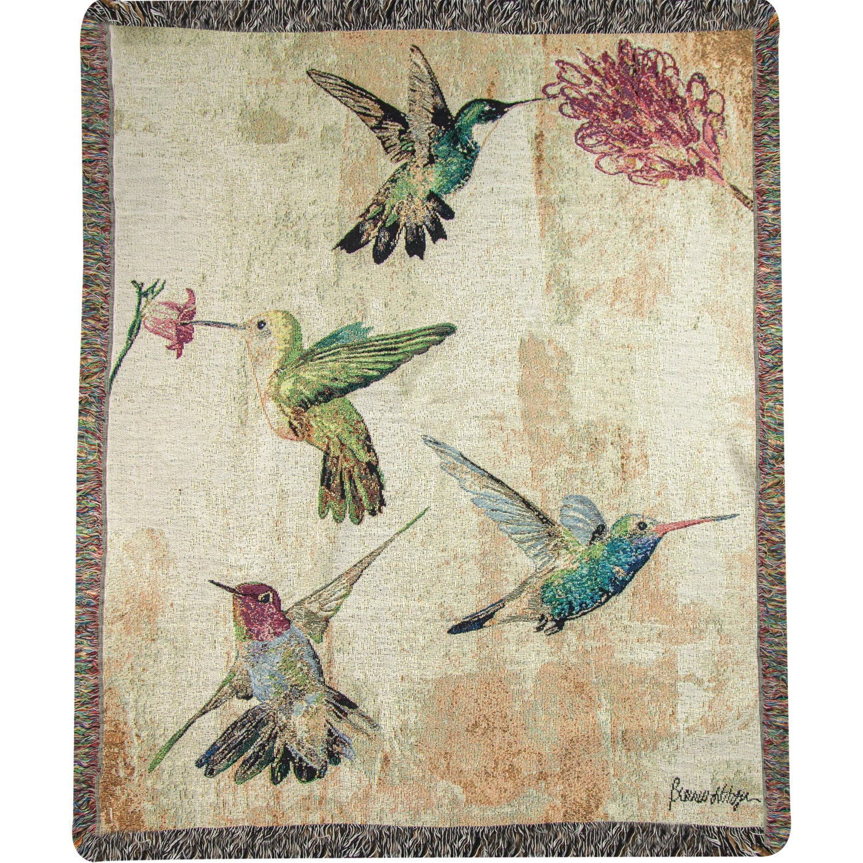 Weavers Manual Hummingbird Floral Multicolor Tapestry Thr...