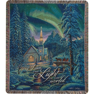 Manual Light of the World Tapestry Throw