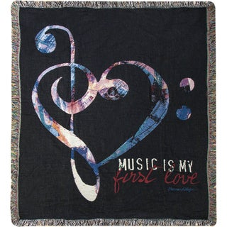 Manual Music In My Soul Multicolor Tapestry Throw