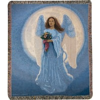 Manual Woodworkers Moon Angel Tapestry Throw
