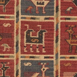 Flat-woven Tribal Wool/ Jute Rug (4' x 6') - Thumbnail 1