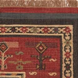 Flat-woven Tribal Wool/ Jute Rug (4' x 6') - Thumbnail 2