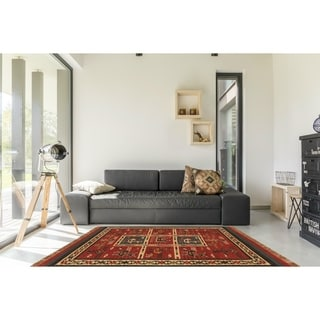 Flat-woven Tribal Wool/ Jute Rug (5' x 8')