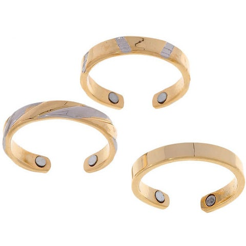 Yellow Gold-plated Two-tone Magnetic Toe Ring