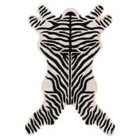 Hand-tufted Zebra-cut Wool Rug (4' x 6')