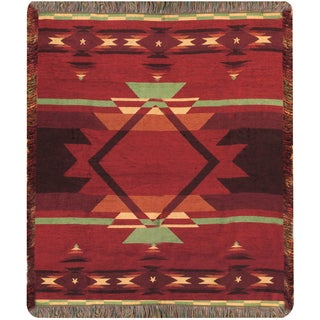 Manual Woodworkers Flame Multicolor Tapestry Throw