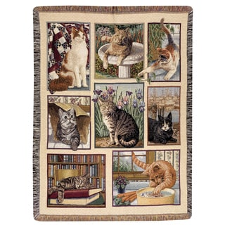 Manual Kitty Corner Multicolor Tapestry Throw