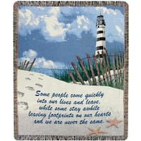 Manual Woodworkers Foot Prints On The Heart Multicolor Tapestry Throw