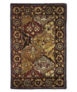 Safavieh Handmade Heritage Traditional Bakhtiari Multi/ Navy Wool Rug (2' x 3')
