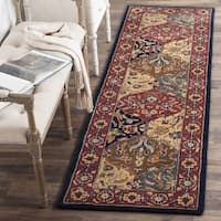 "Safavieh Handmade Heritage Traditional Bakhtiari Multi/ Navy Wool Runner Rug - 2'3"" x 12'"