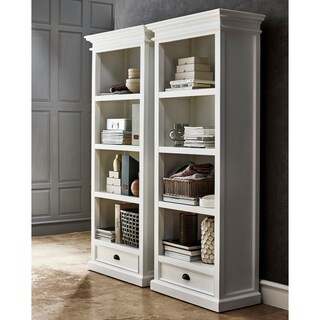 NovaSolo Halifax White Single-drawer Bookcase