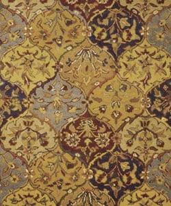 Safavieh Handmade Heritage Traditional Bakhtiari Multi/ Navy Wool Rug (5' x 8')