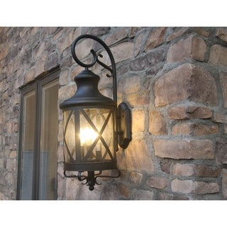 Y-Decor Taysom 3 Light Exterior Lighting in Black
