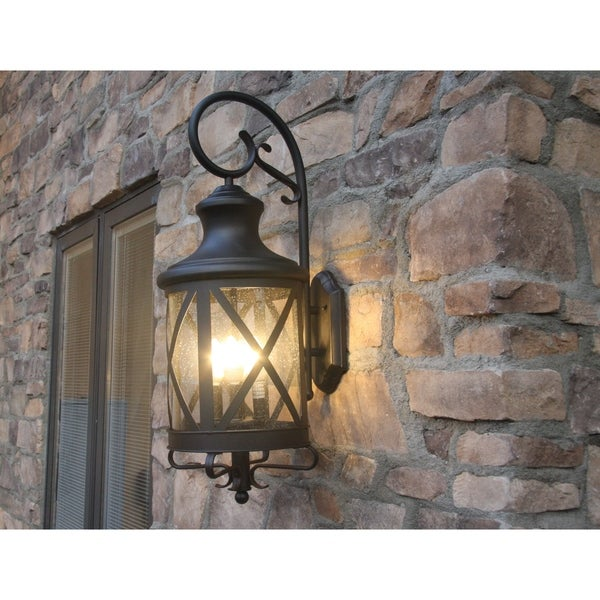 Shop Y-Decor Taysom 3 Light Exterior Light In Black