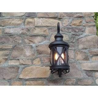 Y-Decor Taysom 2 Light Exterior Lighting in Black