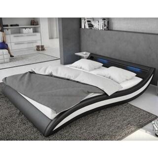 Ladeso SL-Fort Lee Modern Queen Black LED Bed