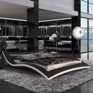 Ladeso SL-Elizabet Modern King Black LED Bed