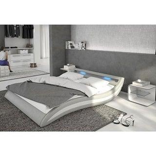 Ladeso SL-Fort Lee Modern King Light Grey LED Bed