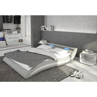 Ladeso SL-Fort Lee Modern Queen Light Grey LED Bed