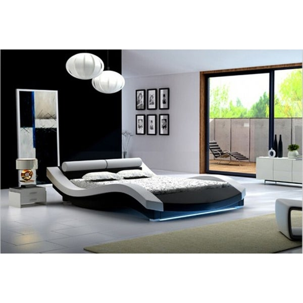 Shop Ladeso Sl Newyork Modern Queen White Led Bed