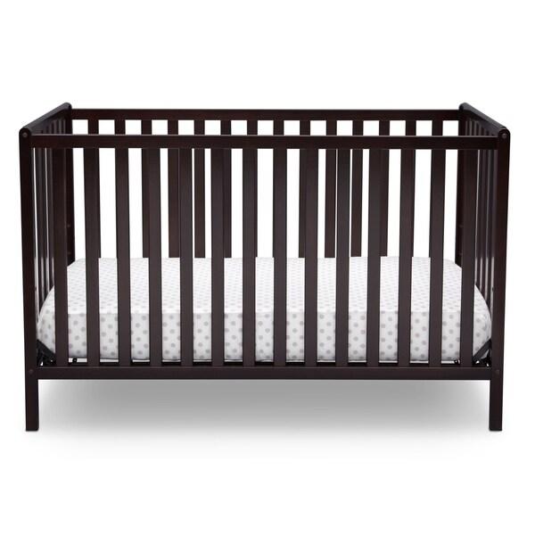 Dark Chocolate Delta Children Heartland 4-in-1 Convertible Crib