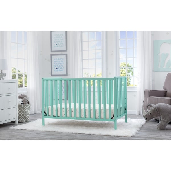 Delta Children Heartland 4-in-1 Convertible Crib, Aqua