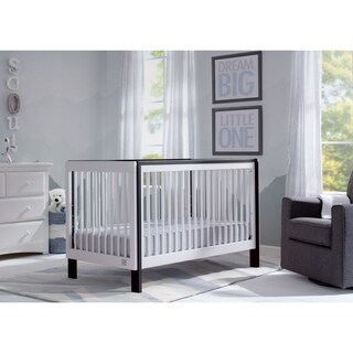 Serta Fremont 3-in-1 Convertible Crib, Bianca White with Ebony