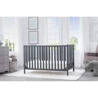 Delta Children Heartland 4-in-1 Convertible Crib, Charcoal Grey