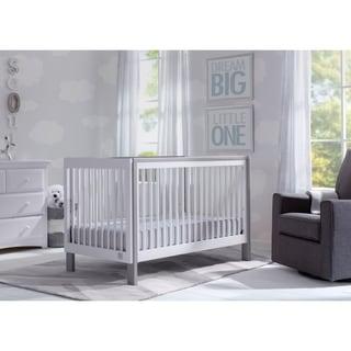 Serta Fremont 3-in-1 Convertible Crib, Bianca White with Grey