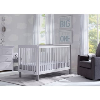 Serta Fremont 3-in-1 Convertible Crib, Bianca White with Grey